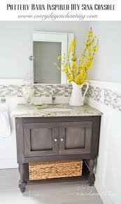 Pottery Barn Bathroom Vanities Diy Pottery Barn Inspired Sink Console Vanity Tutorial Pottery