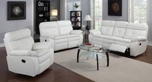 3pc Living Room Set White Leather Ultra Modern 3pc Living Room Set Black And White