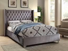 aiden gray queen size bed aiden meridian furniture modern bedrooms