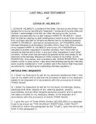 leona helmsley last will and testament legal forms and business