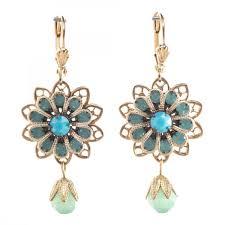 filigree earrings beau beautiful paific opal flower filigree earrings
