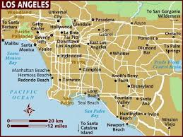 map usa lonely planet map of los angeles