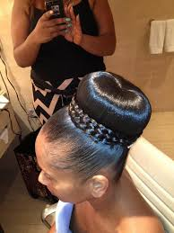 pics of black pretty big hair buns with added hair image result for relaxed hair with a braided bun hairstyles