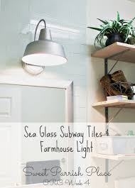 one room challenge week 4 subway tile backsplash and farmhouse