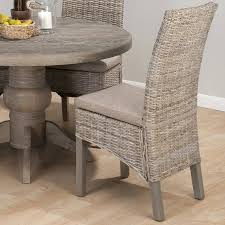 furniture nice burnt grey rattan linen polyester fabric dining