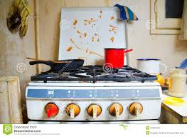dirty kitchen stove royalty free stock photos image 29441058