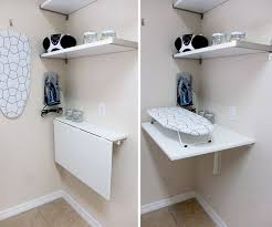 wall mounted folding laundry table folding table ironing board attached to wall storage pinterest