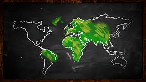 world sketch green painting looping animation 4k resolution