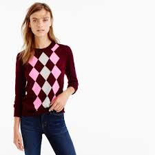 tippi sweater tippi sweater in argyle sweaters j crew preppy
