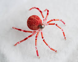 swirl zen teal spider beaded christmas tree spider ornament w