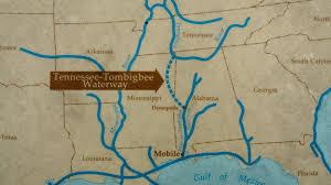 tombigbee waterway map natchez trace parkway tennessee tombigbee waterway mp 293 2