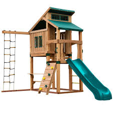 swing n slide playsets hideaway clubhouse playset with summit