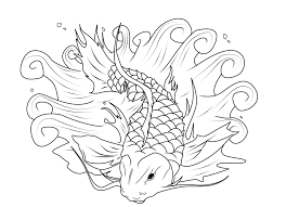 koi fish coloring page chuckbutt com