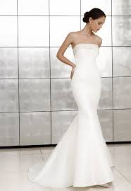 wedding dresses online shopping satin mermaid strapless beaded neckline wedding dress