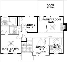 split level homes floor plans plan 2068ga traditional split level home plan garage laundry