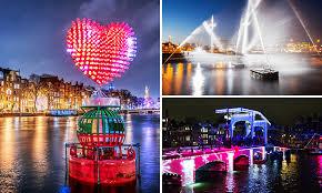 amsterdam light festival boat tour winter boat tours rondvaart 75 min tijdens amsterdam light