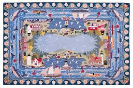 Claire Murray Washable Rugs by Coastal Village 6x9 Hand Hooked Rug Claire Murray