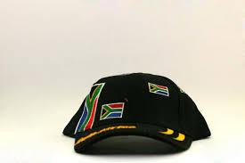 Black Flag Hat Black South African Multi Flag Hat Cambanos