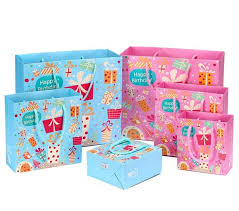 christmas gift bags 10pcs lot pink blue christmas gift bags for kids