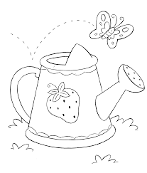watering can coloring page similar clip art pruning shears