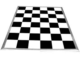 white floor rental floor black and white signature