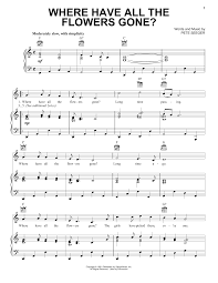 Color Of The Wind Where Have All The Flowers Gone Sheet Music Direct