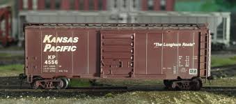 box car train kansas pacific boxcar model railroad hobbyist magazine having