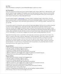 Social Media Community Manager Resume Marketing Analyst Job Description Marketing Analyst Job