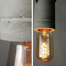 concrete bare bulb light fitting pendant light tudo u0026co u2013 tudo and co