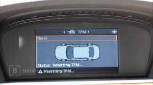 bmw 5 series e60 e61 2004 2010 tire pressure monitor reset