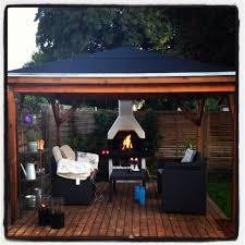 outdoor fireplace in our garden homemade pavilion pavilion