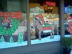 Thanksgiving Window Paintings Lake Gregory Trading Company 2012 Holiday Window Painting