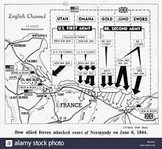 Normandy Map D Day Map Detailing Allies Invasion Of Normandy France 1944