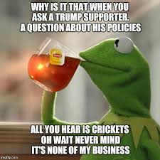 Crickets Meme - but thats none of my business meme imgflip