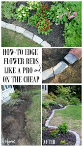 Landscape Flower Bed Ideas by Top 25 Best Cheap Landscaping Ideas Ideas On Pinterest Cheap