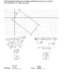 perimeter and area of a rectangle students are asked to find the