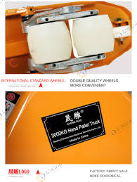 hydraulic manual forklift hand pallet jack 2500kg hand pallet