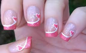 french manicure ideas 4 valentine u0027s day pink tip nails easy