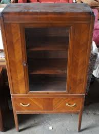 art deco china cabinet antique art deco 1940s waterfall front bakelite curio hutch china