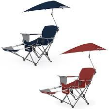 Osu Umbrellas by Sklz Sport Brella Folding Recliner Chair W Umbrella U0026 Footrest