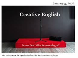 Meaning Of Interior Monologue Writing A Monologue Powerpoint And Activity By Emmaline85