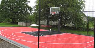 Building A Backyard Basketball Court Basketball Backyard Courts Contractors In Houston Shuffle Board