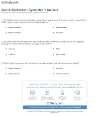 quiz u0026 worksheet symmetry in animals study com