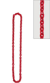 red chain link necklace images Red shot glass bead necklace 34in party city