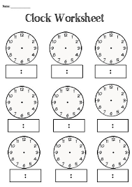 blank clock worksheets fts e info