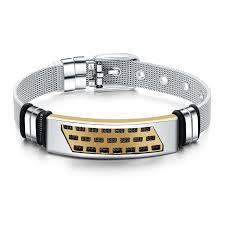 titanium steel bracelet images Shi yifan christmas gift titanium steel bracelet men and women jpg