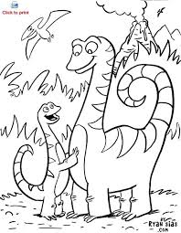 Cute Dinosaur Coloring Page Printable Friend Pages Search Sprouts Sprout Coloring Pages