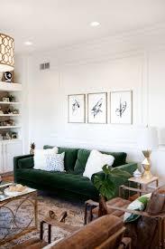 Green Sofa Living Room Living Room Velvet Room Sofa Green Living Paint Beige With