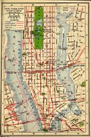 New York City Attractions Map by Historical New York City U0026 Manhattan Maps