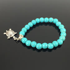 turquoise bead bracelet images Turtle lovers turquoise beads bracelet jpg